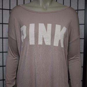 Victoria's Secret PINK Soft Pink Lounge Shirt NWT